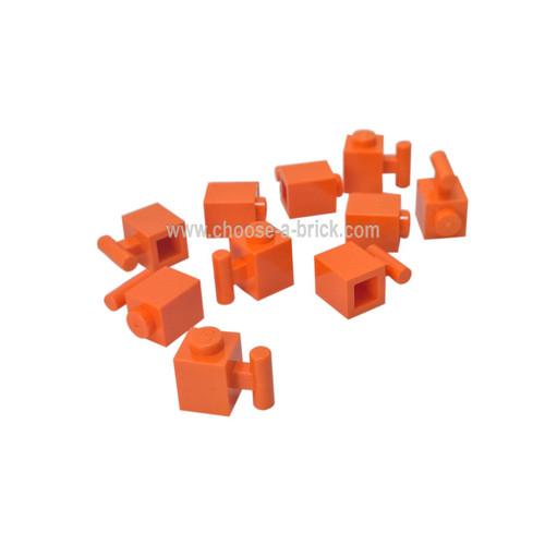 Brick, Modified 1 x 1 with Handle orange