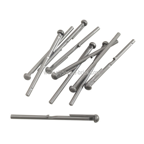 Bar 8L with Round End (Spring Shooter Dart) flat silver