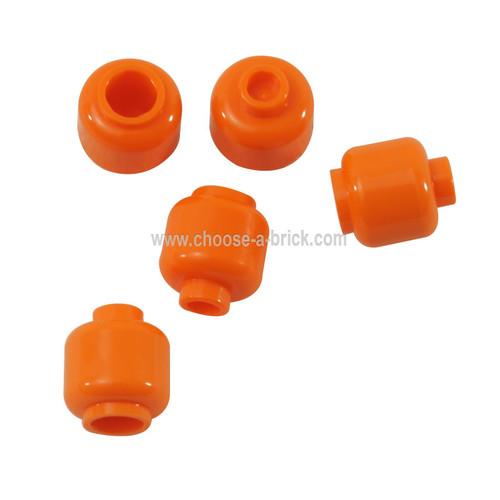 Minifigure, Head (Plain) - Hollow Stud orange