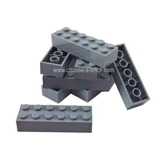 Brick 2 x 6 dark bluish grau