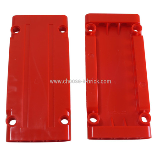 Technic, Panel Plate 5 x 11 x 1 red