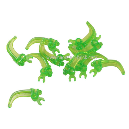Hero Factory Weapon - Claw with Clip Trans Bright Green