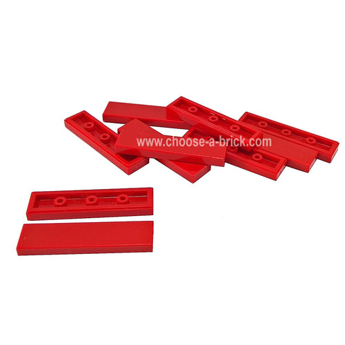 Tile 1 x 4 red