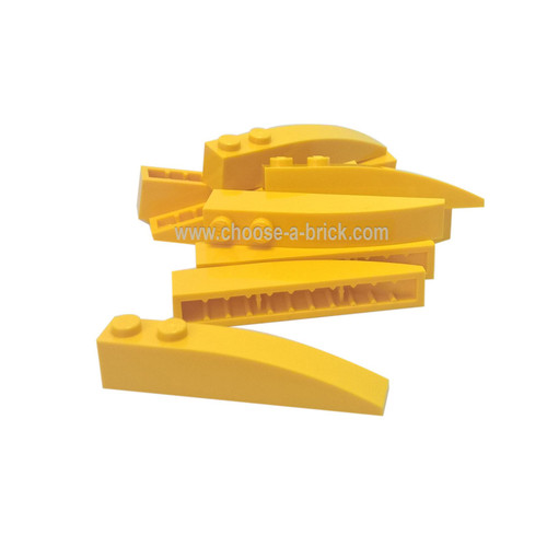 Slope, Curved 6 x 1 Yellow