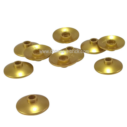 Dish 2 x 2 Inverted (Radar) metallic gold