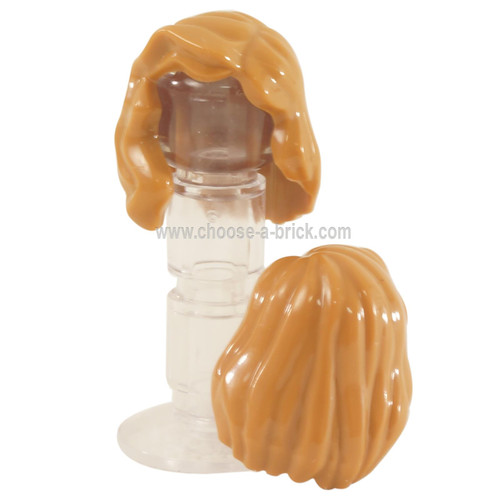 Minifigure, Hair Female Mid-Length with Part over Right Shoulder
