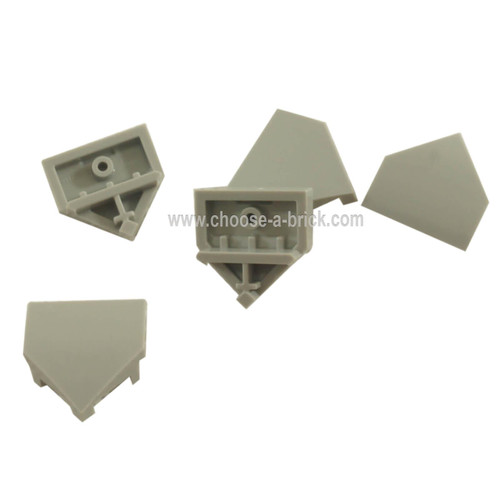 Wedge 2 x 2 Pointed with Stud Notches light bluish gray