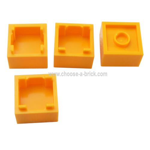 Container, Box 2 x 2 x 1 - Top Opening bright light orange