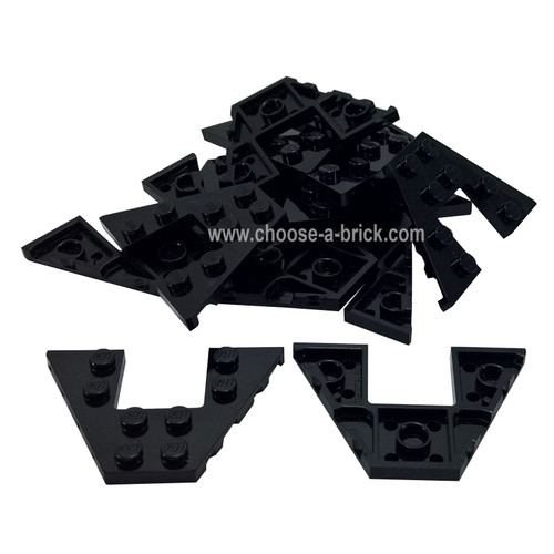 Wedge, Plate 10 x 10 Cut Corner with no Studs in Center black