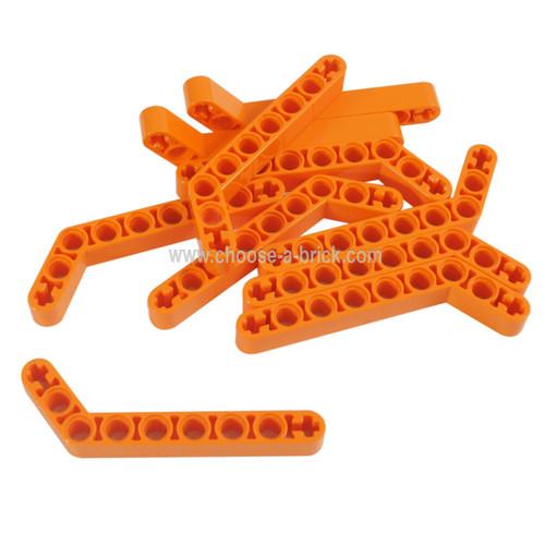 Technic, Liftarm 1 x 9 Bent (7 - 3) Thick orange