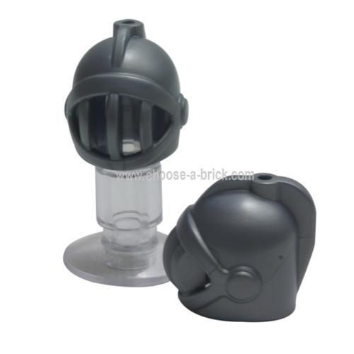 Minifigure, Headgear Helmet Castle with Fixed Face Grille flat silver