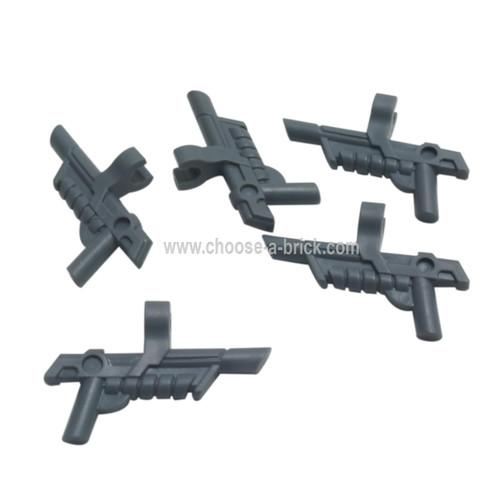 Minifigure, Weapon Gun, Blaster with Clip dark bluish gray