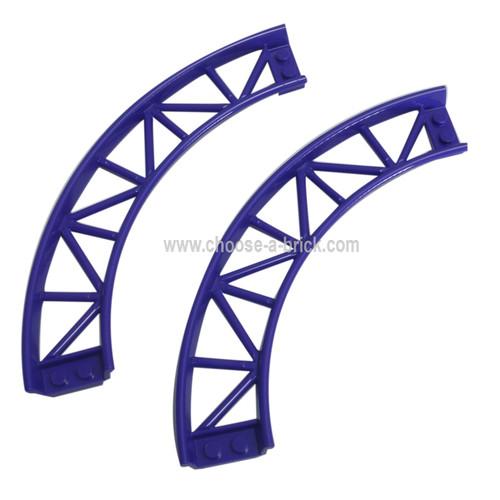 Train, Track Roller Coaster Curve, 90 degrees dark purple
