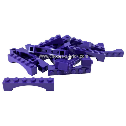Brick, Arch 1 x 6 Raised Arch dark purple