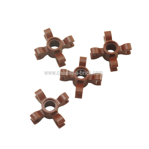 Technic, Pin Connector Round with 4 Clips reddish brown