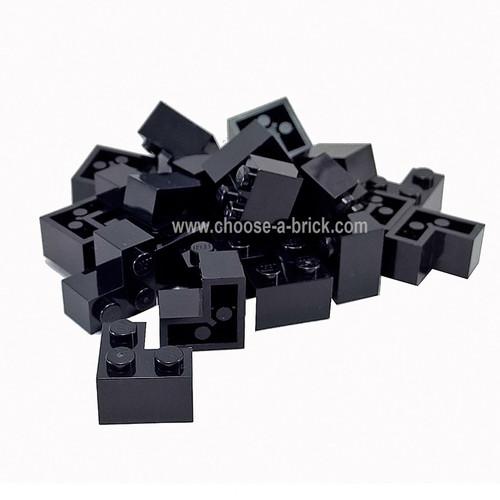 Brick 2 x 2 Corner black