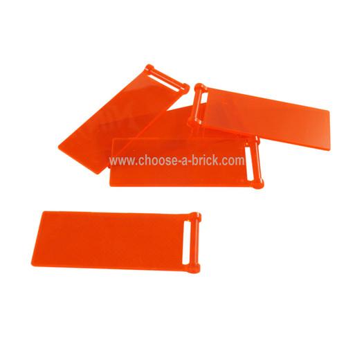Flag 7 x 3 with Rod trans neon orange