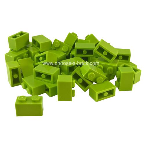 Brick 1 x 2 lime
