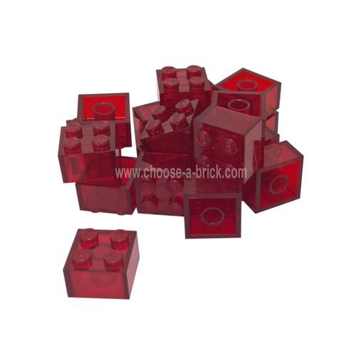 Brick 2 x 2 trans red