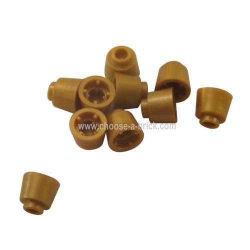 Cone 1 1/6 x 1 1/6 x 2/3 (Fez) pearl gold