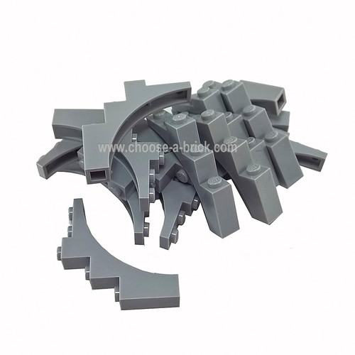 Brick, Arch 1 x 5 x 4 - Continuous Bow light bluish gray
