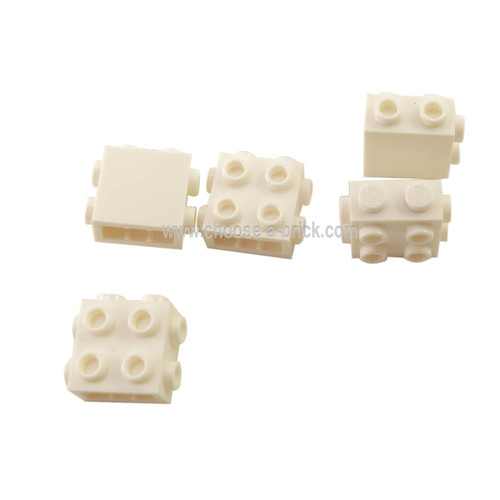 Brick, Modified 1 x 2 x 1 2/3 with Studs on 3 Sides white