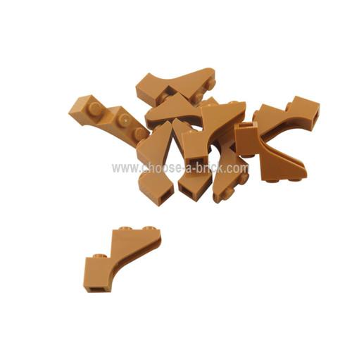 Brick, Arch 1 x 3 x 2 medium nougat