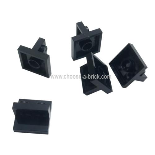 Bracket 2 x 2 - 1 x 2 Centered black