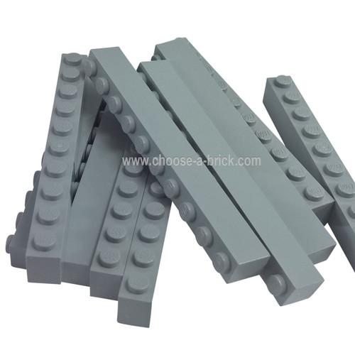 Brick 1 x 10 light bluish gray