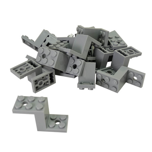 Hinge 1 x 2 Locking with 2 Fingers and Towball Socket light bluish gray