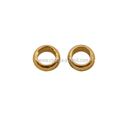 Minifigure, Utensil Ring 1 x 1 chrome gold