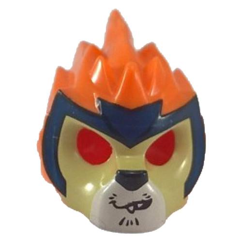 Orange Minifig, Headgear Mask Lion with Tan Face, Croo