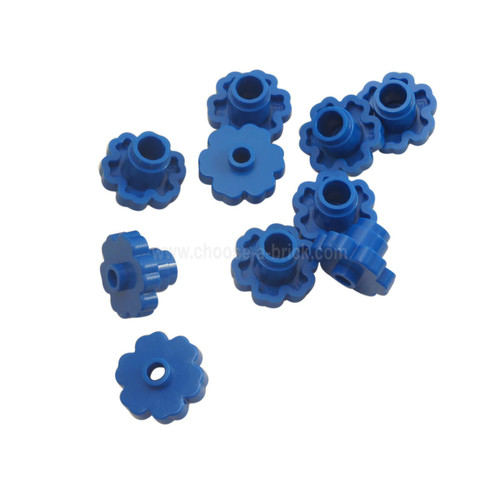 Plant Flower 2 x 2 Rounded - Open Stud blue