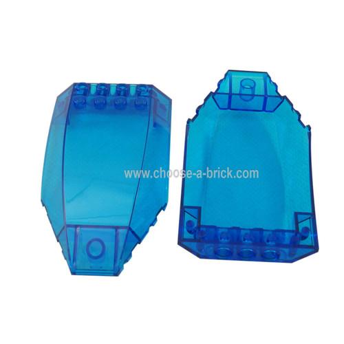 Windscreen 10 x 6 x 2 Curved trans dark blue