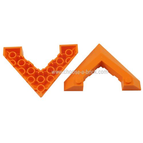 Wedge 6 x 8 Pointed Cutout orange