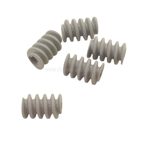 Technic, Gear Worm Screw, Long, Axle Opening Type II light bluish gray