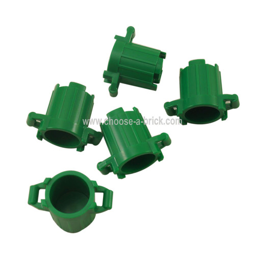 Container, Trash Can with 4 Cover Holders green