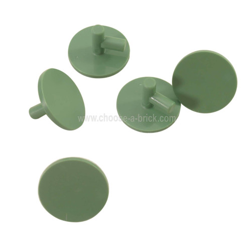 Minifigure, Shield Round Flat sand green
