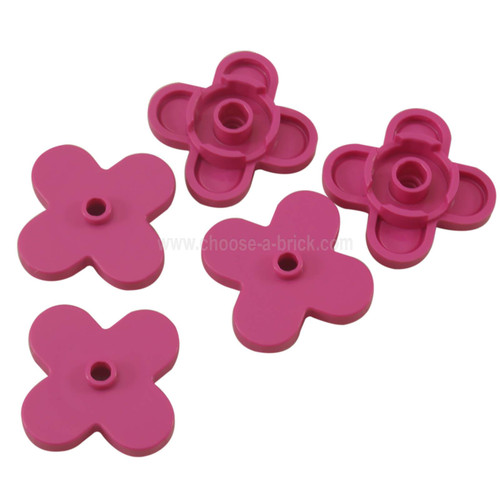 Plant Flower 4 x 4 Rounded Petals dark pink
