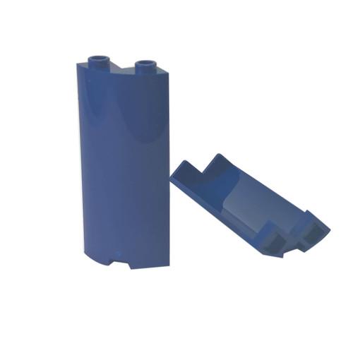 Cylinder Quarter 2 x 2 x 5 dark blue