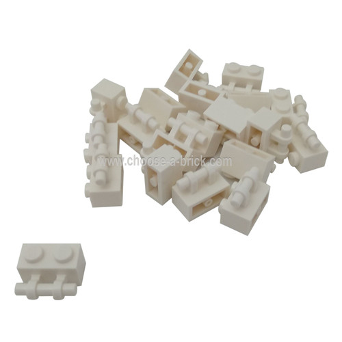 Brick, Modified 1 x 2 with Handle white