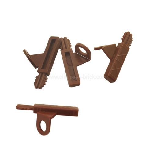 Minifigure Arrow Quiver with 2 Arrows reddish brown