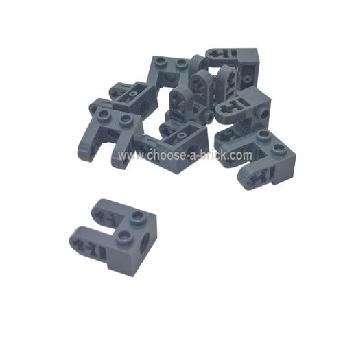 Technic, Brick 1 x 2 with Hole and Dual Liftarm Extensions dark bluish gray