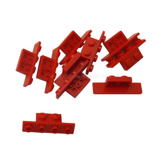 Bracket 1 x 2 - 1 x 4 red