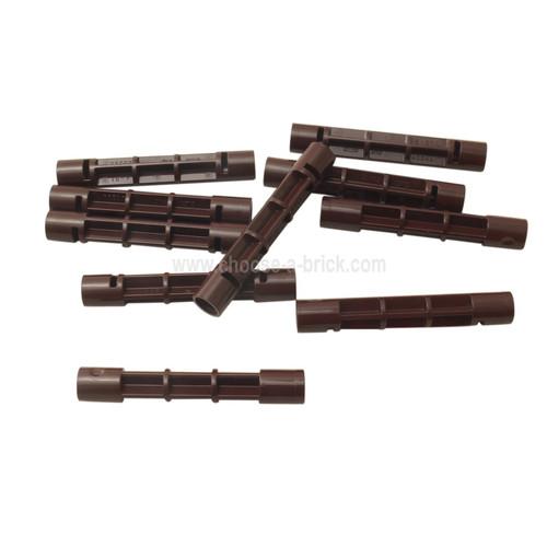Support 1 x 1 x 5 1/3 Spiral Staircase Axle dark brown