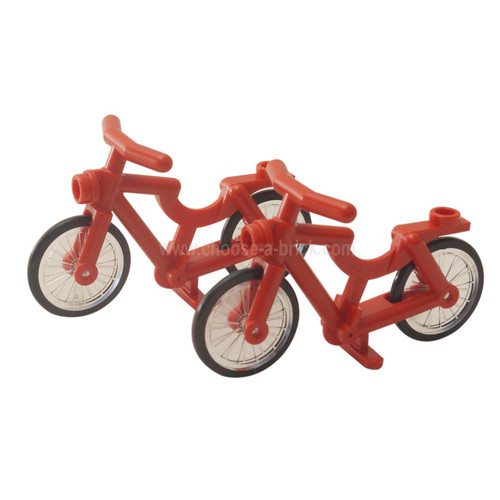 Bicycle (1-Piece Wheels) red