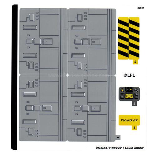 Sticker Sheet for Set 75172 - International Version - (30933/6178149)
