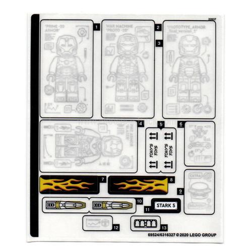 Sticker Sheet for Set 76167 - 69524-6316327