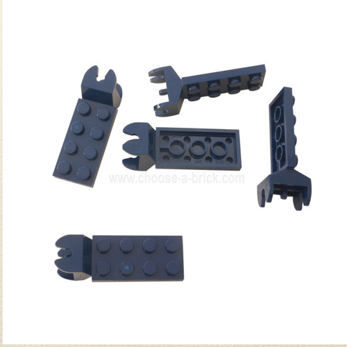 Hinge Plate 2 x 4 with Articulated Joint - Female dark blue