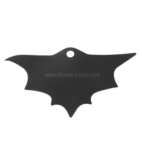 Minifigure Cape Cloth, Scalloped 7 Points, Wide, Single Top Hole (Batman) - Traditional Starched Fabric black